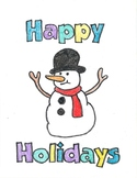 Snowman Decimal Coloring Sheet
