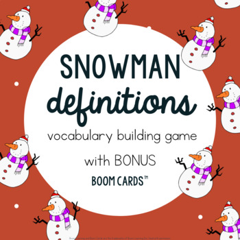 Snowman Definition Building Game: Winter Speech-Language Therapy for Vocabulary
