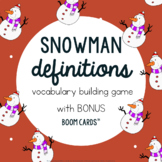 Snowman Definition Building Game: Winter Speech-Language T