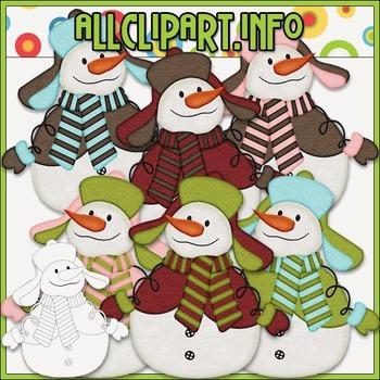 Snowman Delights Clip Art