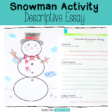 Christmas Description Writing Activity - Snowman
