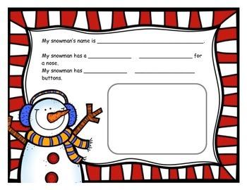 Snowman Descriptive Writing Activity