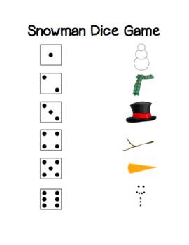 Snowman Dice Game