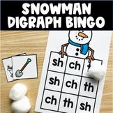 Snowman Digraph Bingo- FREEBIE