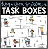 Snowman Disguise Task Boxes | Task Boxes for Special Education
