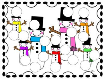 Snowman Dobber Pack ~ No Prep Activities