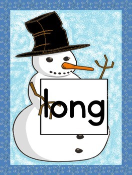 Snowman Dolch Third Grade Sight Word Posters and Flashcards