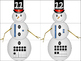 Snowman Doubles 10's frame (numbers 11 - 20)
