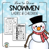 Snowman Craft Drawing Kit