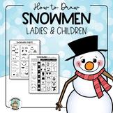 Snowman Craft Drawing Kit