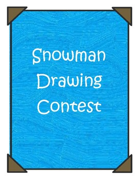 Snowman Drawing Contest