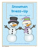 Snowman Dress-Up: Tens and Ones Place Value