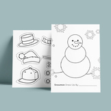 Snowman Dressup Worksheet - Cut out - Clip Art - Coloring Page