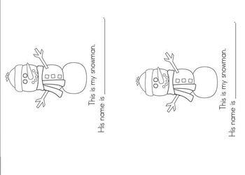 Snowman Easy Reader Book