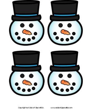 Snowman Editable Name Activity