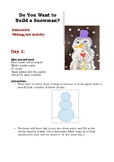Snowman Elaborative Writing Activity