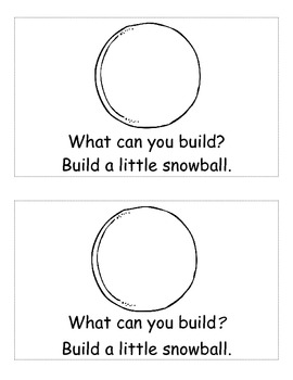 Snowman Emergent Reader *Practices sightwords: what, can, you, a, little