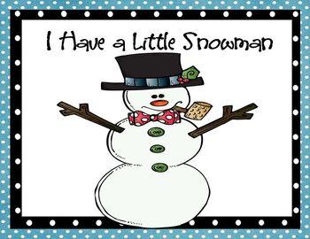 Snowman Emergent Reader for Smartboard