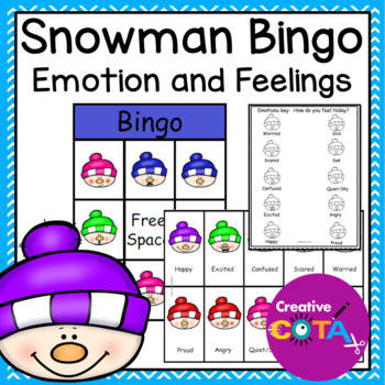 Snowman Emotion Feelings Bingo