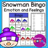 Snowman Emotion Feelings Bingo