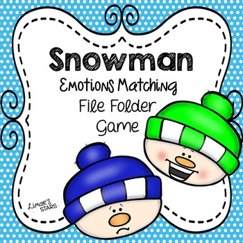 Snowman Emotions Matching File Folder Game