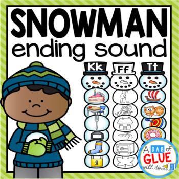Snowman Ending Sound Match-Up