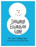 Snowman Estimation Game