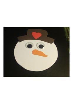 Snowman Face Template By Melissa Burgess