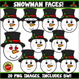 Snowman Faces And Emotions Clipart