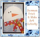 Snowman Faces Bulletin Board Art Activity  ~ Print and Make