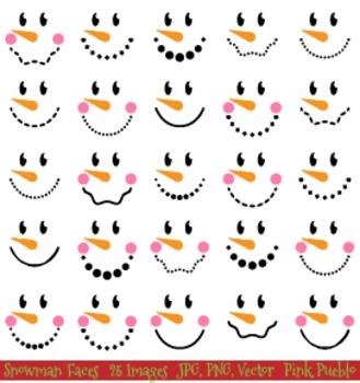 Snowman Faces Christmas Clipart Clip Art, Snowman Christma