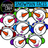 Snowman Clipart: Faces {Creative Clips Clipart}