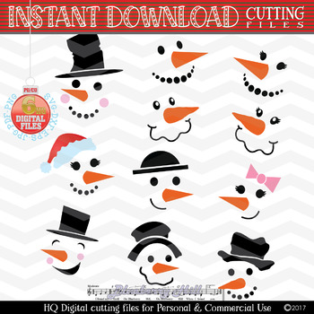 Snowman Faces Svg Snowman Svg Christmas Party Svg By Blueberry Hill Art