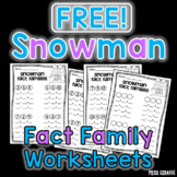 Free Snowman Fact Families