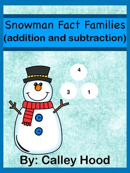 Snowman Fact Families (addition and subtraction)