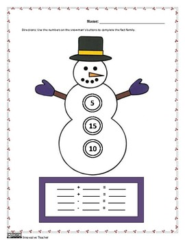 Snowman Fact Family