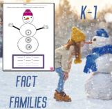 Snowman Fact Family Math Worksheets