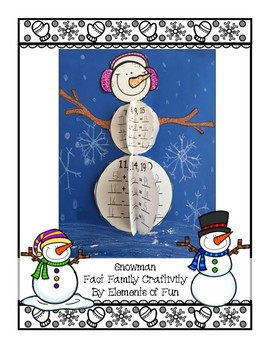 Snowman Fact Family Craftivity