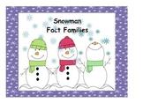 Math Center: Snowman Fact Family