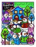 Snowman Family {Creative Clips Digital Clipart}