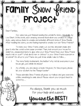 Snowman Family Project --- Snowman Craftivity Based on SNOWBALLS by Lois Ehlert