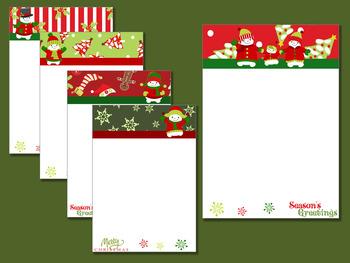 Snowman Family - Seasons Greetings Writing Paper