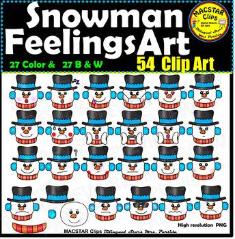 Snowman Feelings Emotions ClipArt  Images    Clip Art 40% OFF THE NEXT 24 HOURS