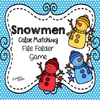 Snowman File Folder Game: Color Matching
