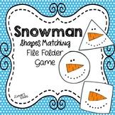 Snowman File Folder Game: Shapes Matching