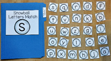 Snowman File Folder Game--Snowball Letters Match