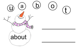 Snowman First Grade Sight Word Building Smartboard