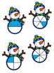 Snowman Fraction File Folder Game