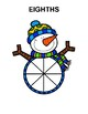 Snowman Fractions - Posters and Activities