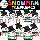Snowman Ten Frames Clip Art {Snowman Clip Art}